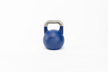 blue dumbbells  on white background