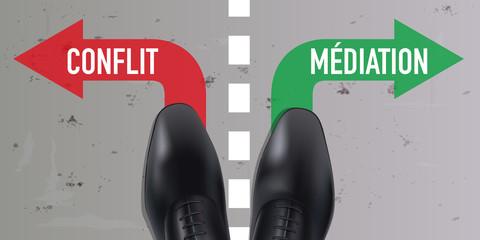 conflit - médiation - problème - solution - choix - choisir - négociation - concept - divorce