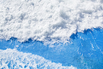 sea wave with foam