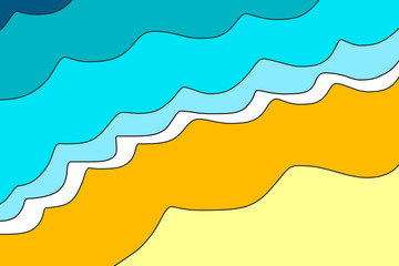 Poster Turquoise Beach background illustration