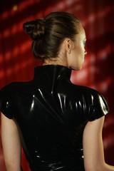 Mistress in latex - rear view