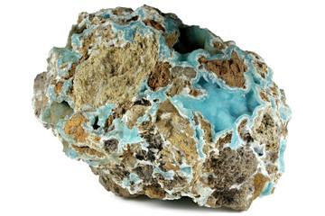 smithsonite from Nebida, Sardinia, Italy isolated on white background