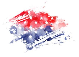 Abstract USA flag
