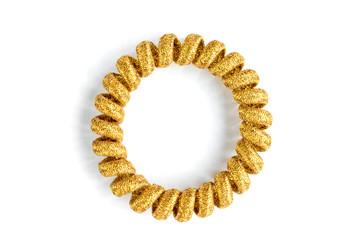 Golden glitter hair band isolated on white background