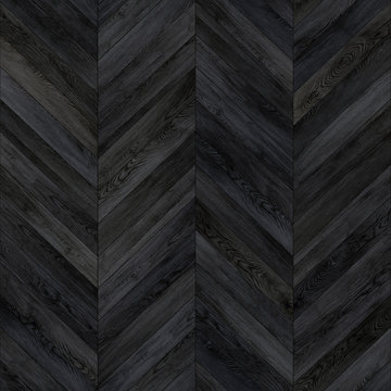 Seamless wood parquet texture chevron dark