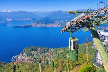 Sasso del Ferro Seilbahn am Lago Maggiore - Sasso del Ferro ropeway on lake Lago Maggiore