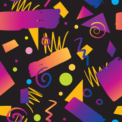 Color seamless pattern background 90s gradient style