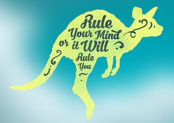 "Motivational Quote ""Rule Your Mind"""