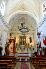interior of confraternity oratory crucifix 1714  - Gallipoli Salento