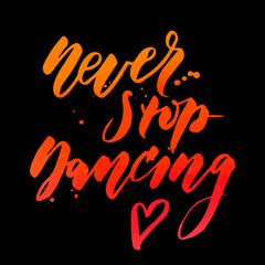 Zumba Vector lettering watercolor word text color pop art dance