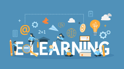 E-learning concept. illustration.