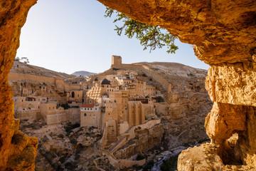 Mar Saba an Eastern Orthodox Christian monastery in Kidron Valley in Palestine