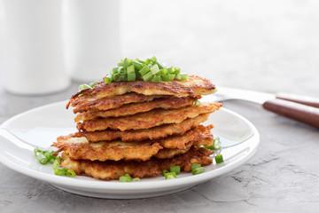 Potato pancakes, Ukrainian dish deruny