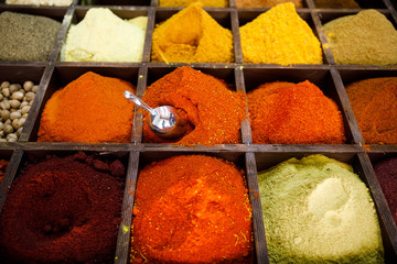 Colourful Spices in the Souk of Jerusalem