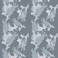 Abstract camo background as urban camouflage in different shades of grey and blue