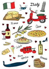 Векторная иллюстрация Италия. Vector illustration Italy