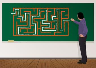 étudiant - orientation - université - labyrinthe - problème - solution - difficulté - réussite - scolaire