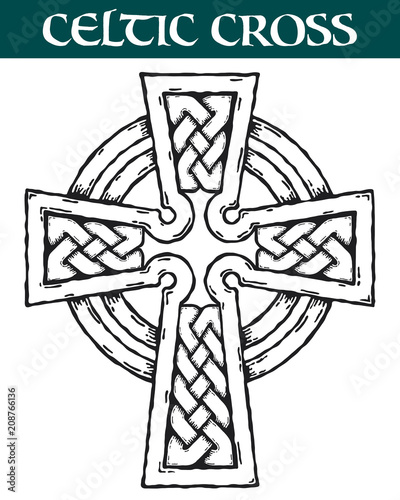 celtic cross vector image of an ornate celtic cross for use in rh fotolia com celtic cross vector art ornate celtic cross vector