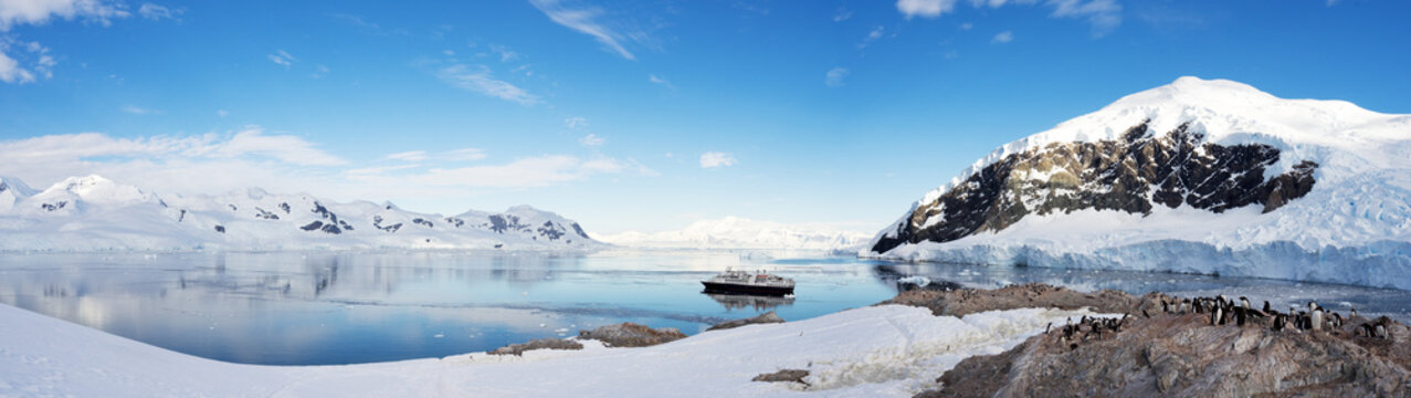 Beautiful landscape and scenery in Antarctica