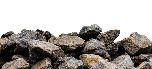 Big rock isolated on white. This has clipping path. Fotoväggar
