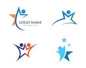 Star people Logo Template