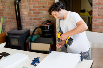 Drilling the holes in furniture