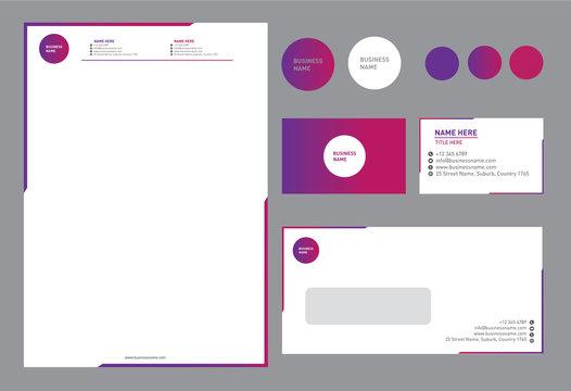 Bright Colorful Corporate Brand Identity