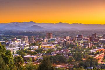 Fototapete - Asheville, North Caroilna, USA Skyline