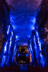 Fototapete - Catedral de Sal Salt Cathedral of Zipaquira Cundinamarca in Colombia South America
