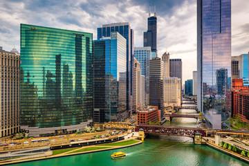 Photo sur Toile Chicago Chicago, Illinois, USA Cityscape