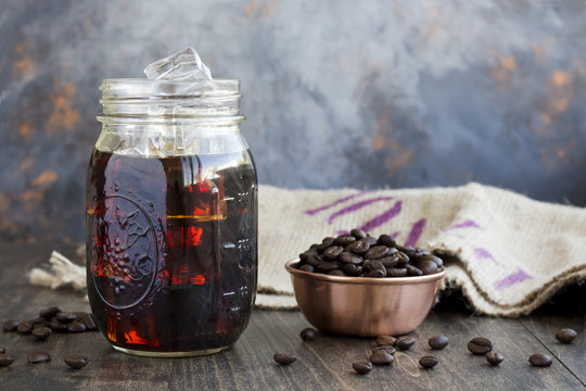 Iced Coffee in a Jar