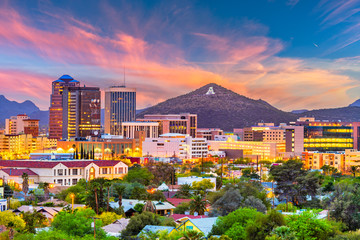 Wall Mural - Tucson, Arizona, USA Skyline