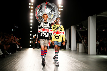 The Charles Jeffrey Loverboy catwalk show at London Fashion Week Men's, in London