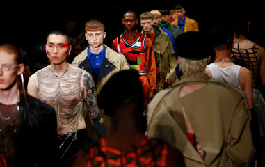 The University of Westminster MA catwalk show at London Fashion Week Men's, in London