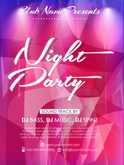 nice and beautiful party flyers or brochures for Night Party with nice and creative design illustration.