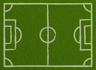 Soccer field, Football field - Vector Background illustration