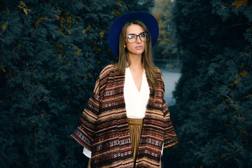 woman in stylish clothes