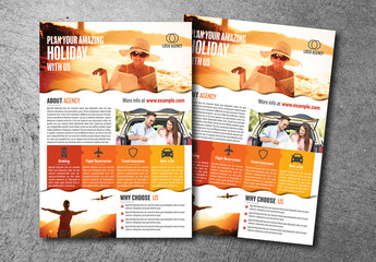 Flyer Layout with Orange and Red Elements