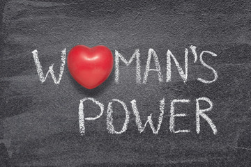 womans power heart