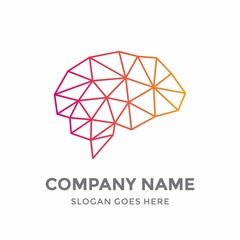 Brain Idea Smart Creative Graphic Memory Science Internet Networking Digital Education Technology Logo Vector Design Template