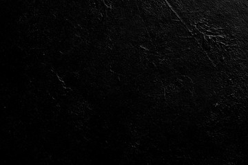 abstract black textured dust background. distressed dark scratched stucco design. free space concept