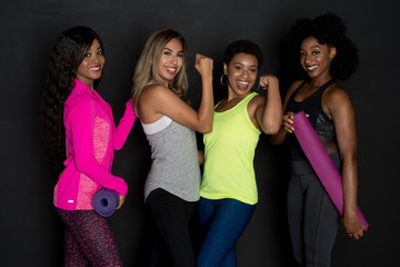 Group Of Fit Friends