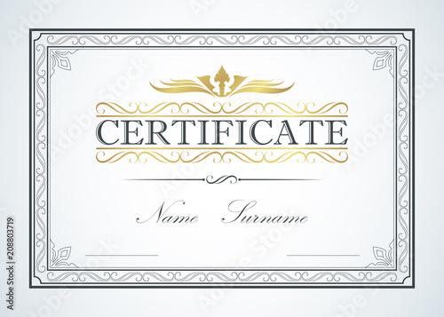 Certificate border frame template guide design. Retro vintage luxury ...