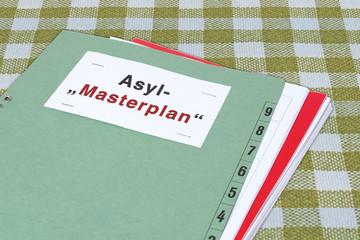 """Akte, Asyl-""""Masterplan"""" (symbolisches Bild)"""