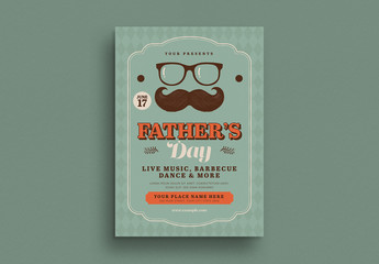 Father's Day Flyer Layout