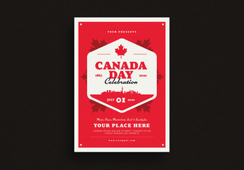 Canada Day Flyer Layout
