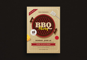 Summer Cookout Flyer Layout