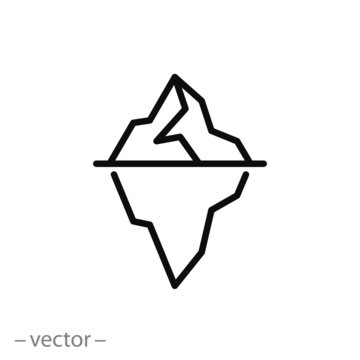 Iceberg icon vector