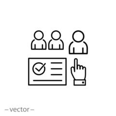 hiring jobs in the team icon vector