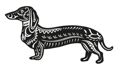 Ethnic ornamented dog